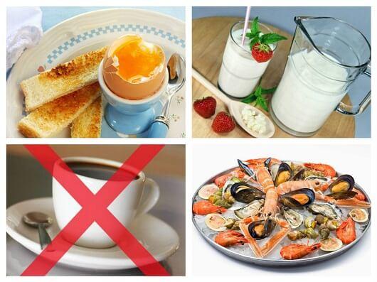 Рекомендуемые блюда и продукты