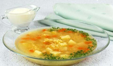 Правильно приготовленный суп с пшеном