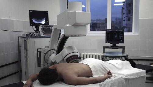Положение пациента при проведении процедуры