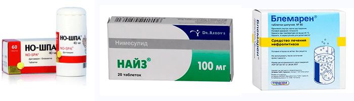 Спазмолитические лекарства при возникновении болей