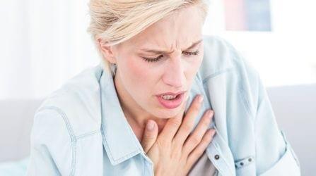 Дыхание затруднено и повышено давление