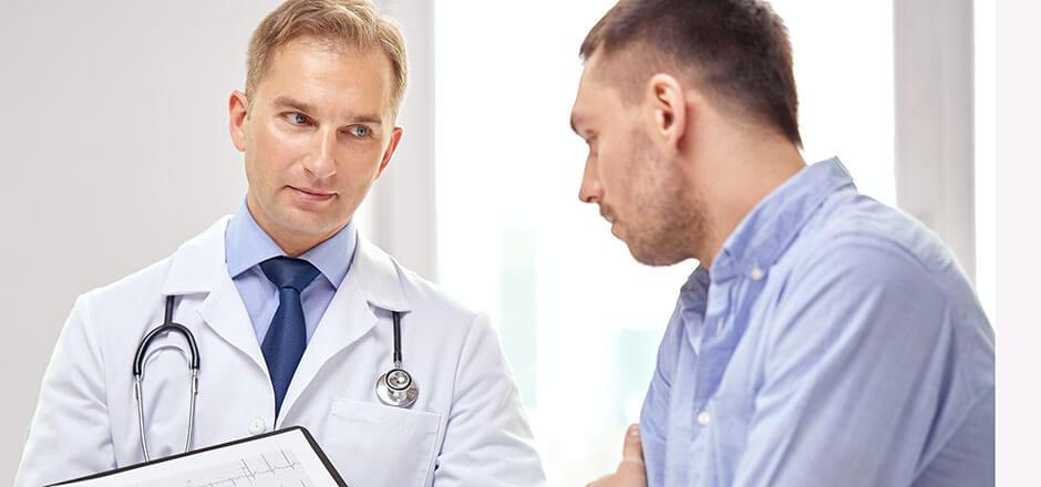 При появлении первых симптомов обратитесь к специалисту