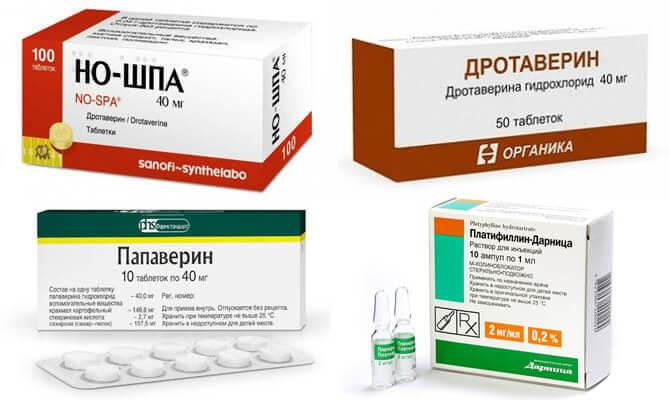 Самые распространенные спазмолитические средства для снятия боли